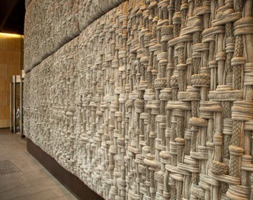 веревочный декор фасада