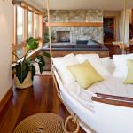 веревка и канат в интерьере спальни